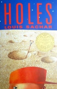 holes, louis sachar, book cover