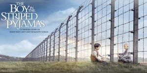 "The movie poster for John Boyne's ""The Boy In The Striped Pyjamas""; book clubbers agreed the book's subtlety made it more powerful."