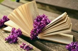 book, old tome, flowers, tale, story, narrative, fiction, bibliophiles